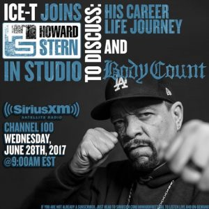 ICE-T (BODY COUNT) To Appear On The Howard Stern Show This Week Featured, In-Studio Guest