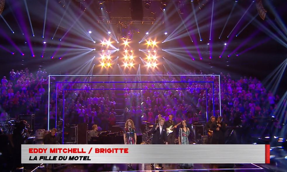 "Brigitte & Eddy Mitchell interprètent ""la fille du motel""  dans l'émission Taratata"