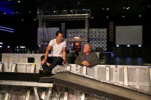 Bruce and long time tour director George Travis