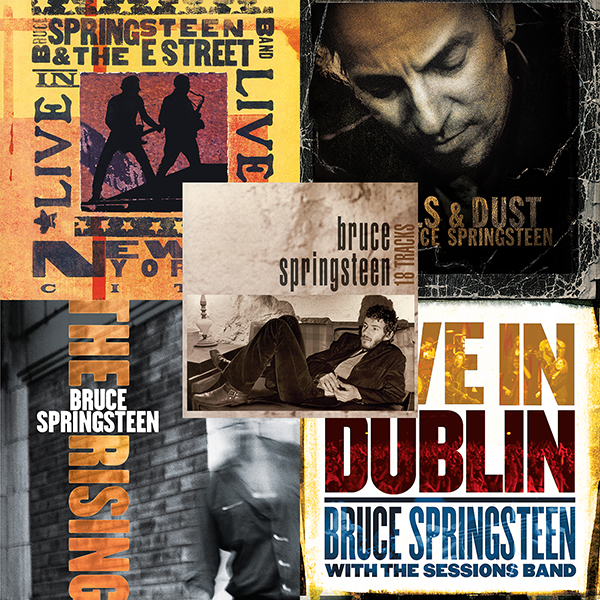 Resultado de imagen de '18 Tracks' (1999), 'Live in New York City' (2001), 'The Rising' (2002), 'Devils & Dust' (2005) y 'Live in Dublin' (2007).