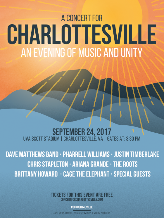 """A CONCERT FOR CHARLOTTESVILLE"""