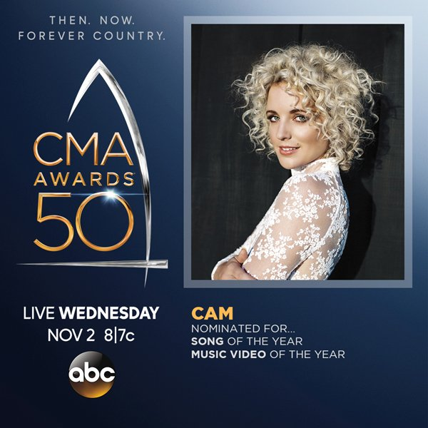 Cam Nominated for Two CMA Awards!