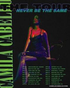 """Camila Announces """"Never Be The Same"""" Tour"""