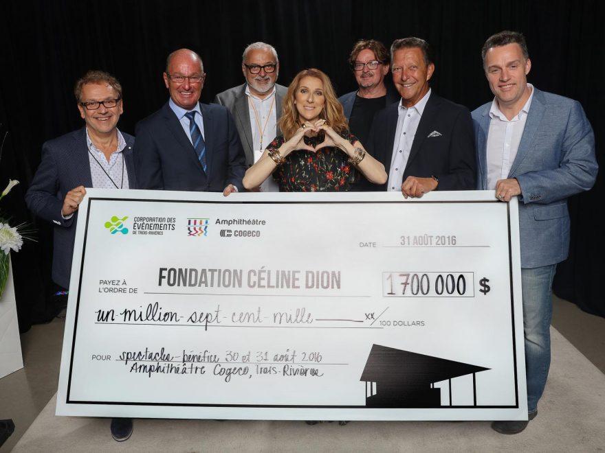$1,700,000 FOR THE FONDATION CÉLINE DION