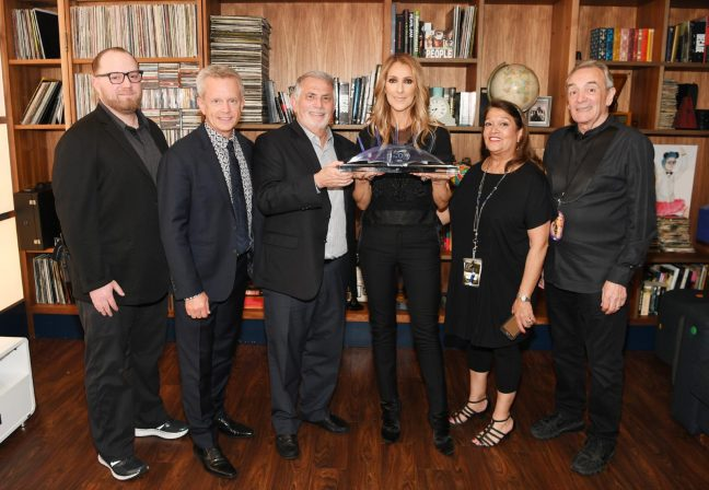 THE O2 PRESENT CELINE DION WITH AWARD FOR THEIR 10TH BIRTHDAY