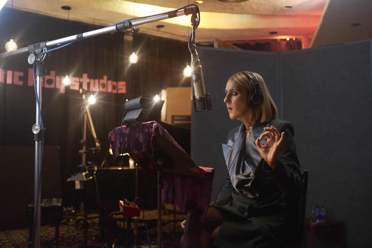 Celine Dion at Electric Lady Studios