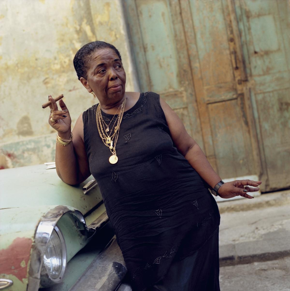 CesariaEvora_Cuba_Car_2000