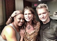 With Lisa Fischer and Steven Tyler / Photo by Jeremy Plotnikoff