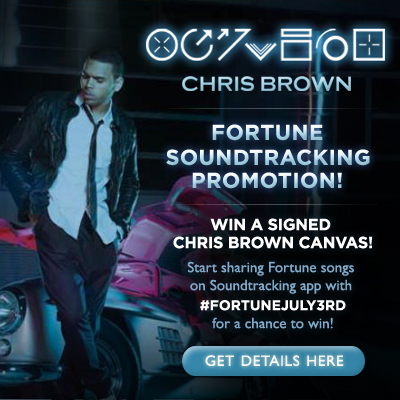 Win a Signed Chris Brown Fortune Album Image Canvas! - Chris