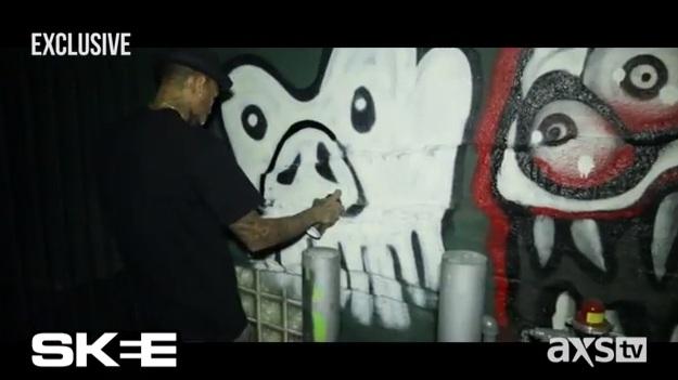 Chris' Skee TV Graffiti Exclusive - Chris Brown