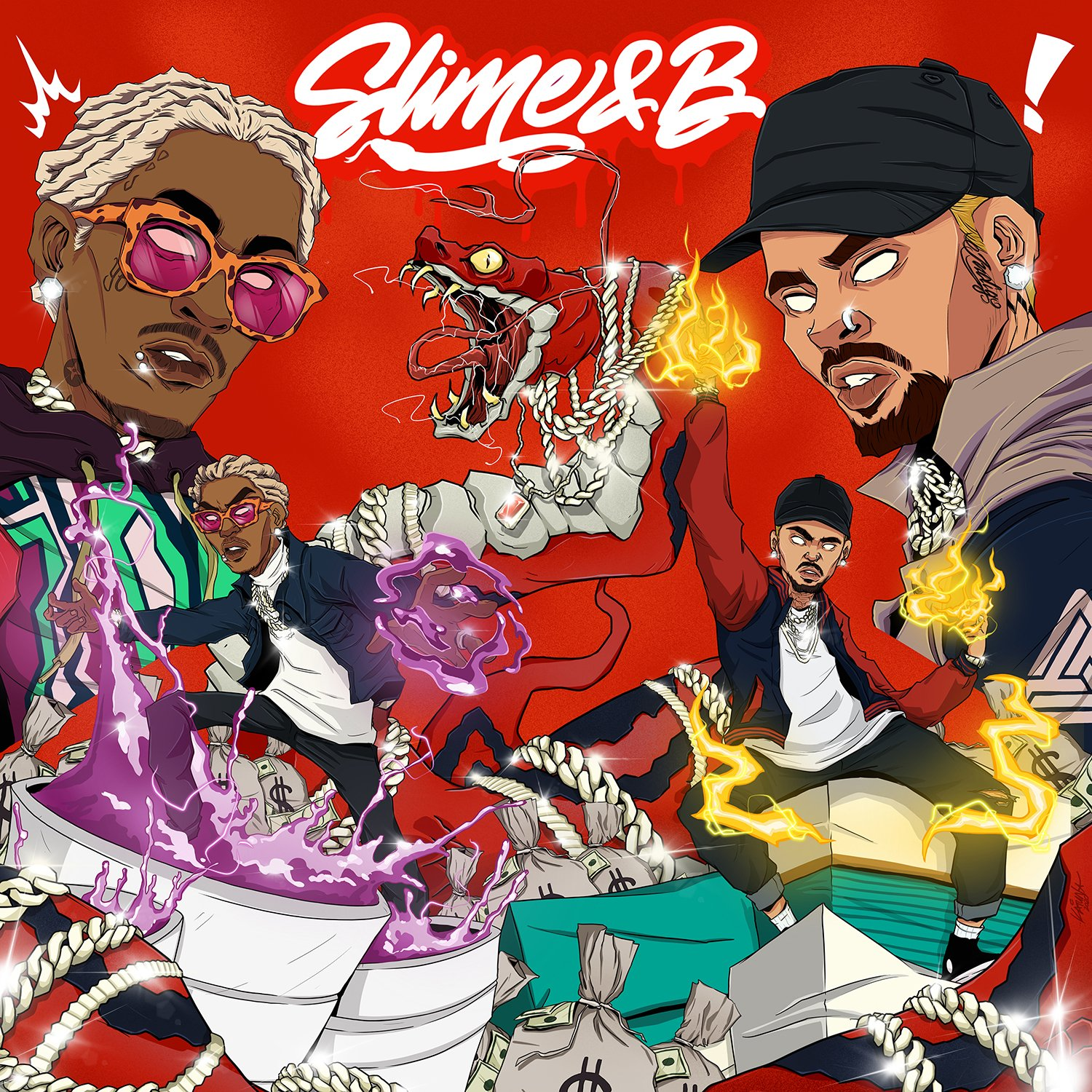 CHRIS AND YOUNG THUG TEAM UP FOR 'SLIME & B' MIXTAPE!