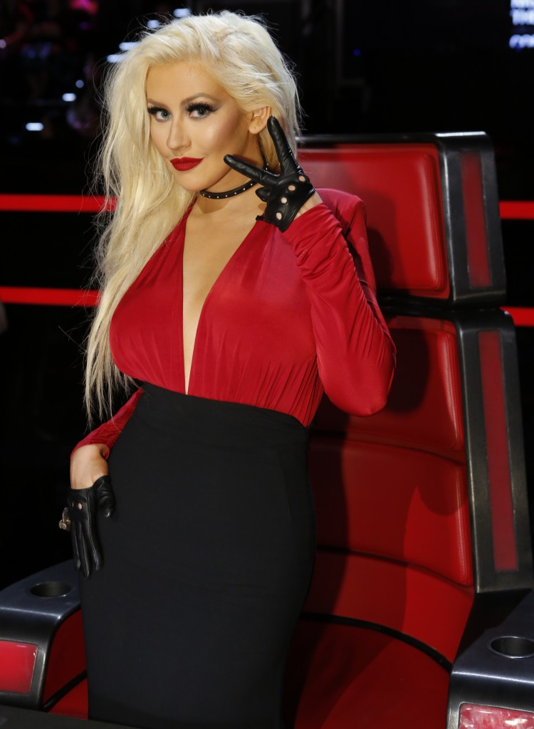 """THE VOICE -- """"Live Playoffs"""" Episode 1012B  -- Pictured: Christina Aguilera -- (Photo by: Trae Patton/NBC)"""