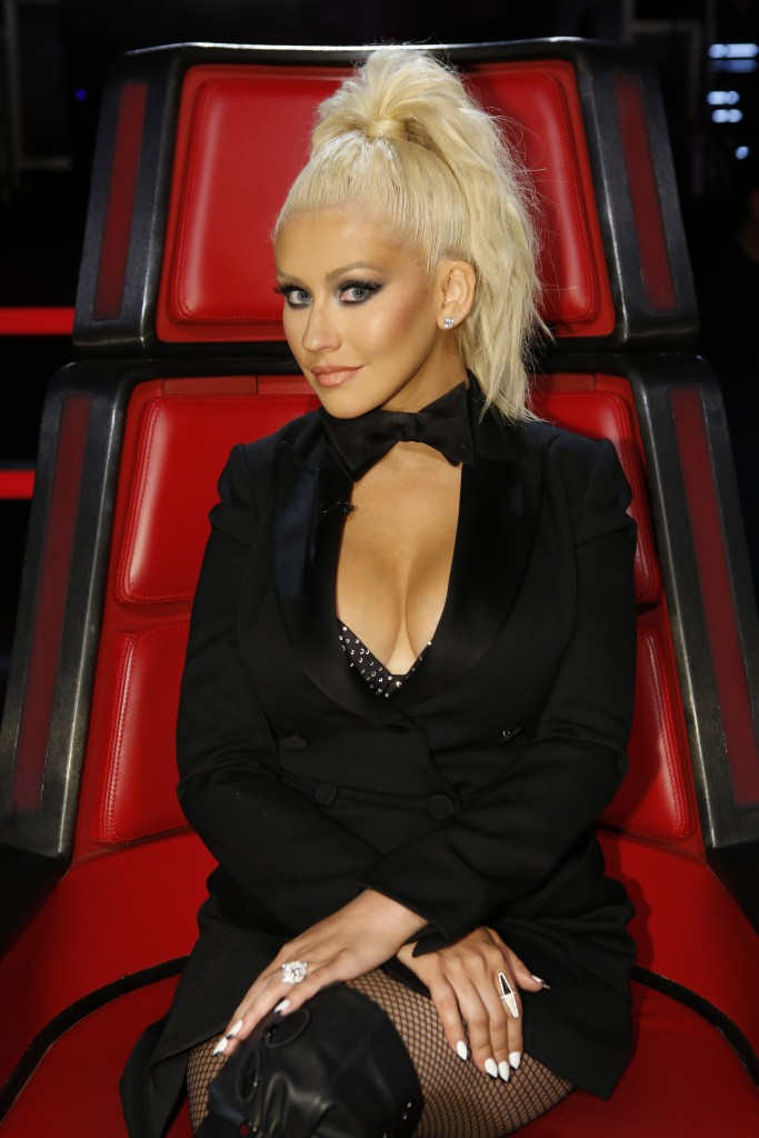 "THE VOICE -- ""Live Top 11"" Episode 1014B  -- Pictured: Christina Aguilera -- (Photo by: Trae Patton/NBC)"