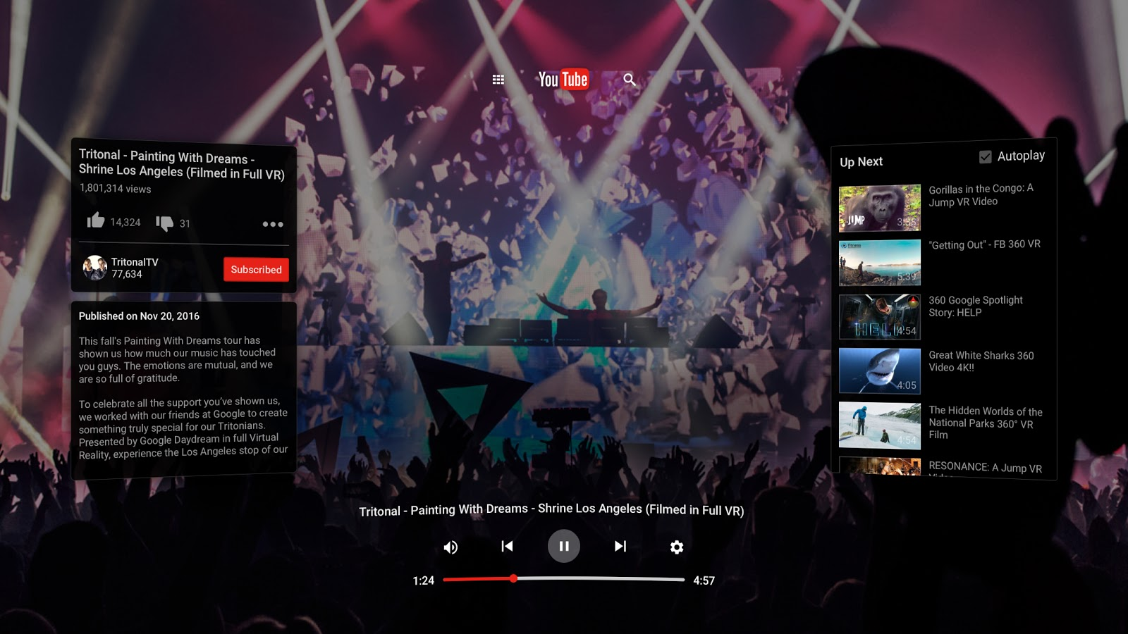 Dive Into YouTube VR, YouTube's New Virtual Reality App
