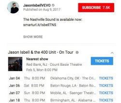YouTube Partners With Ticketmaster To Display Tour Dates