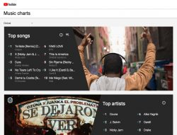 YouTube Music Charts Launch in 44 Countries