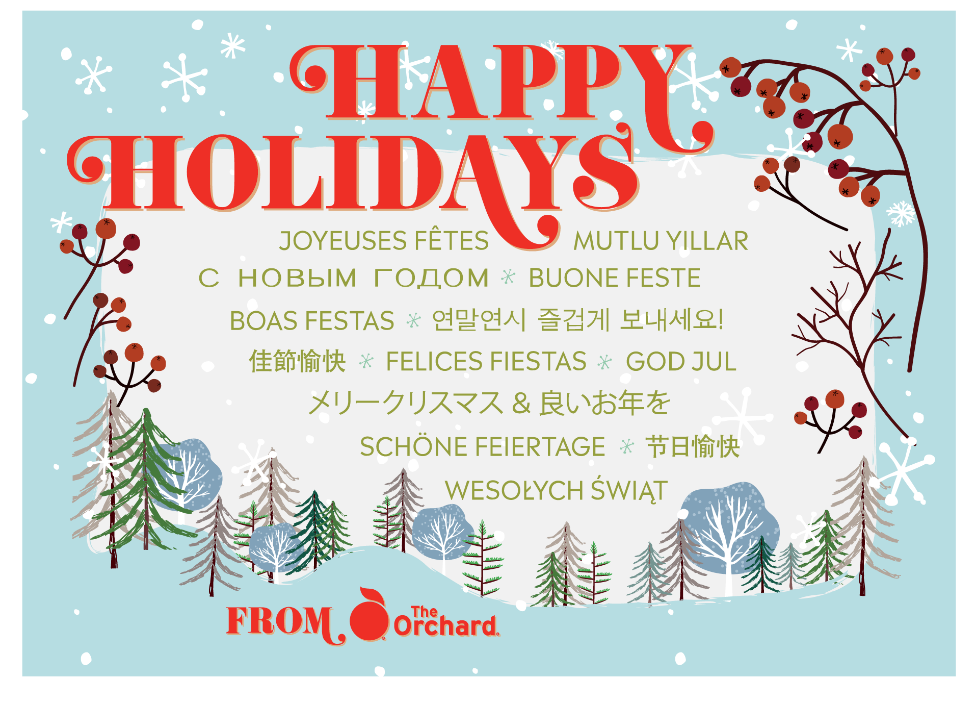 Happy Holidays From The Orchard