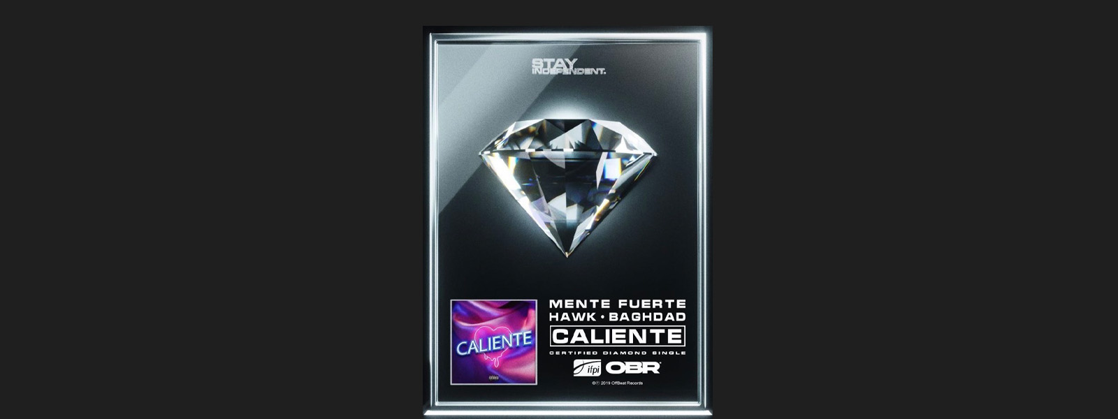 """Caliente"" Awarded First-Ever IFPI Certified Diamond Single In Greece"