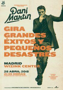 Dani Martín agota las entradas para su concierto en Madrid el 28 de abril de 2018