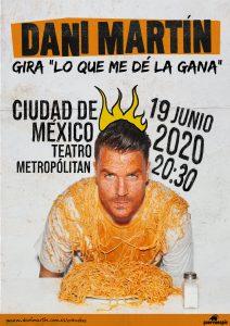 Dani Martín arrancará su gira 'Lo que me dé la gana' en México.