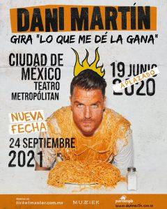 Aplazamiento del concierto de Ciudad de México.