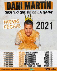 Aplazamiento Gira 'Lo Que Me Dé La Gana' – Nuevas fechas 2021