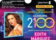 EDITH MARQUEZ 2100 REPRESENTACIONES MENTIRAS EL MUSICAL