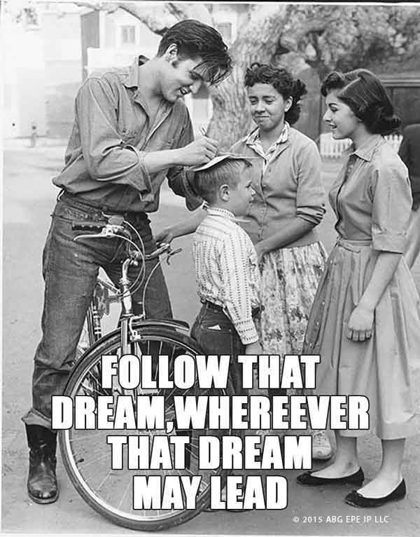 Elvis Presley Follow That Dream meme