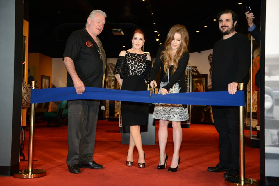 Priscilla Presley and Lisa Marie Presley at opening of ELVIS: The Exhibition in Las Vegas April 23, 2015
