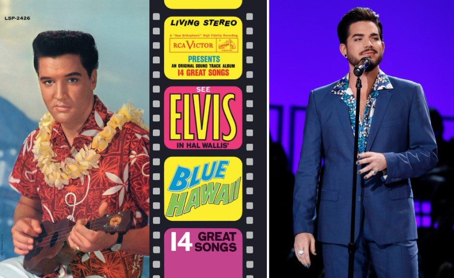 Elvis Presley Blue Hawaii and Adam Lambert ELVIS All-Star Tribute