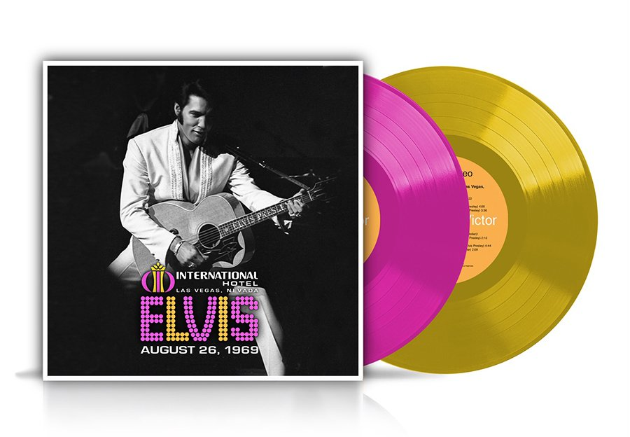 Live at the International Hotel, Las Vegas, NV August 26, 1969 limited edition hot pink and yellow 2-LP