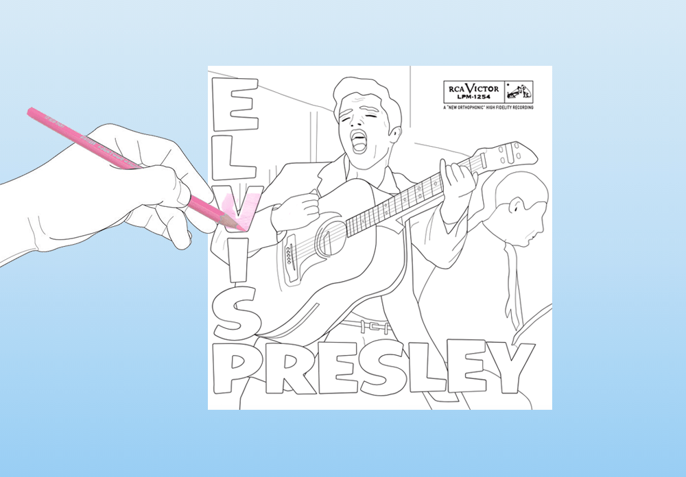 Elvis Presley album coloring