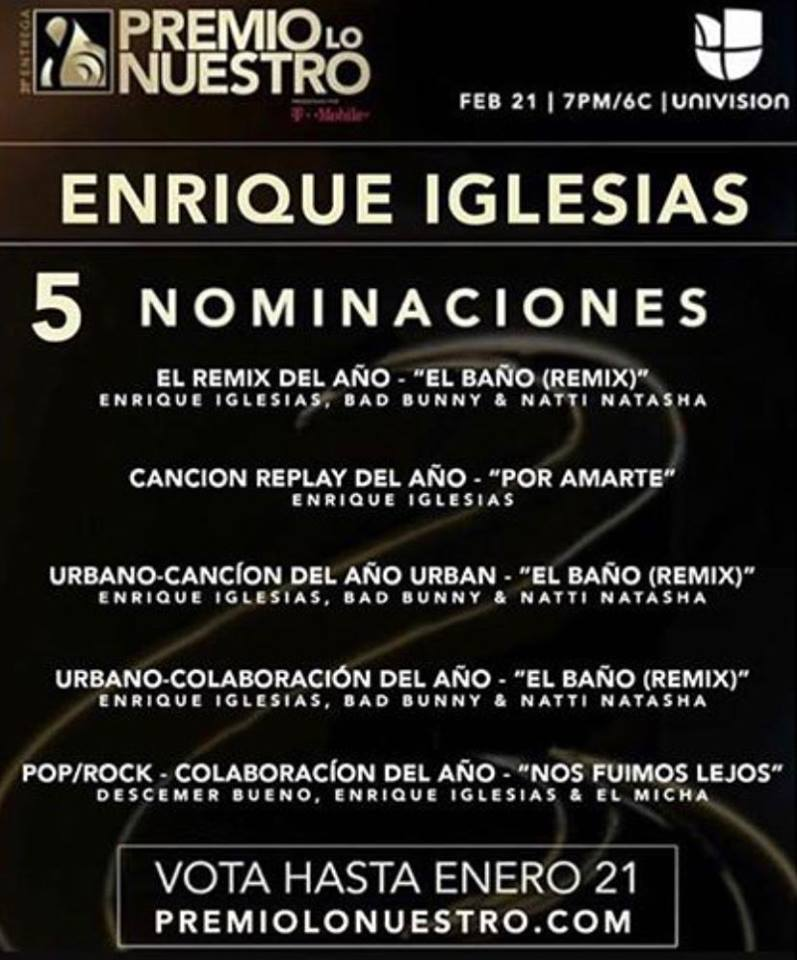Vote on #PremioLoNuestro! image