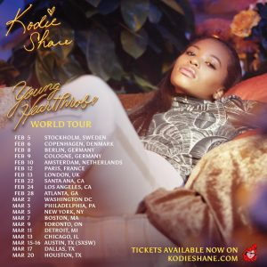 KODIE SHANE ANNOUNCES 2019 HEADLINING YOUNG HEARTTHROB WORLD TOUR IN SUPPORT OF DEBUT ALBUM
