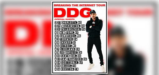 "4cb48f6b65b2 DDG ANNOUNCES THE ""BREAKING THE INTERNET"" TOUR 2019"