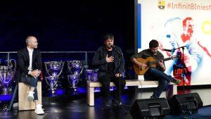 Estopa participa en la despedida de Andrés Iniesta