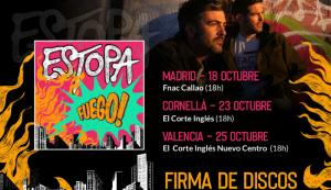 """Estopa estrena el Escape Room """"Fuego!"""" y anuncia fechas de firmas de discos"""
