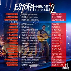 Imagen de gira 2022 de Estopa