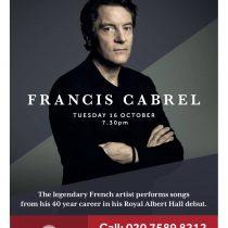 Francis Cabrel en concert exceptionnel à Londres