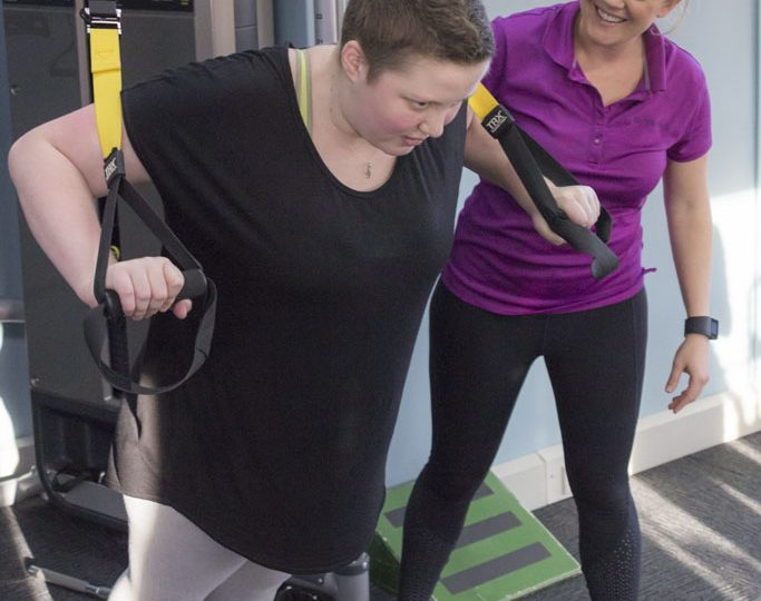 You Can Innovate grant winner Claire Munsie practicing her exercise physiology program with a patient in Perth