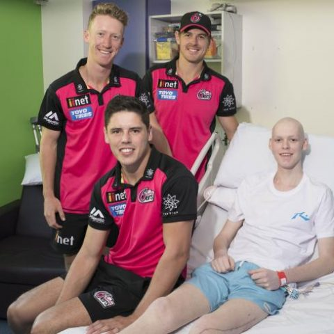Nicholas and Sixers players_Credit Daily Telegraph