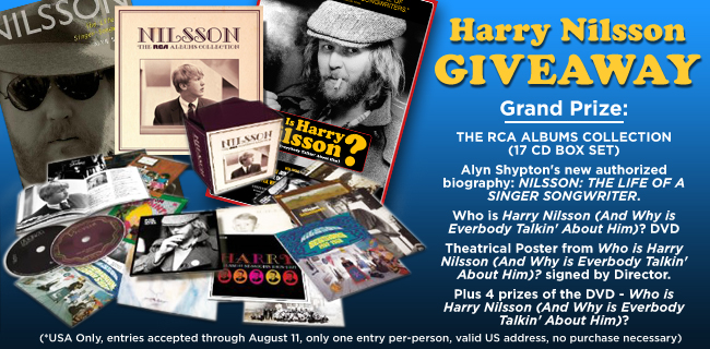 Enter For A Chance To Win A Harry Nilsson Prize Package!