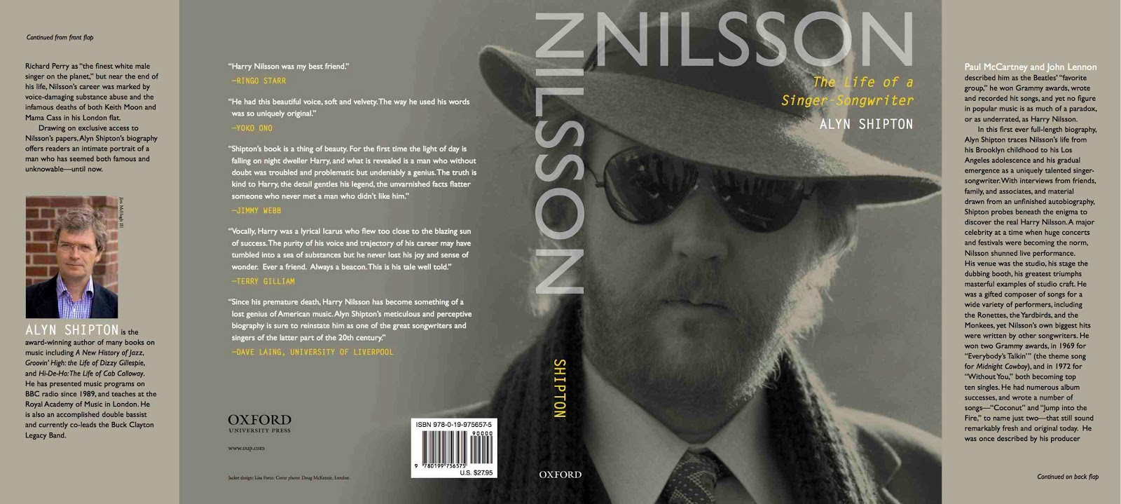 'Nilsson: The Life of a Singer-Songwriter' Named Book Of The Week By BBC Radio 4
