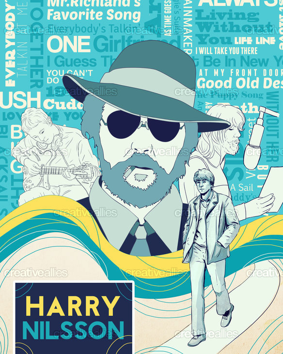 The Winner Of The Harry Nilsson Poster Design Contest At Creative Allies!