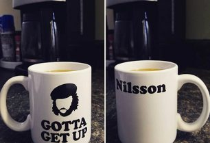 Harry Nilsson 'Gotta Get Up' Mug