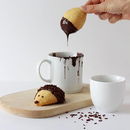 Igelkekse mit Schokolade