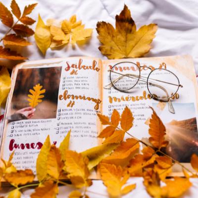 Dekoriere dir dein Journal nach deinem eigenen Geschmack.