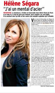Hélène Ségara dans Télé 7 Jours