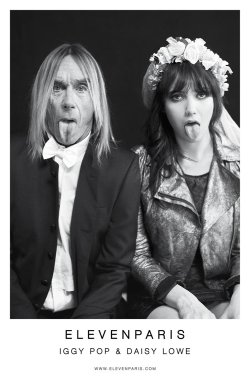 Iggy Pop and Daisy Lowe for Eleven Paris