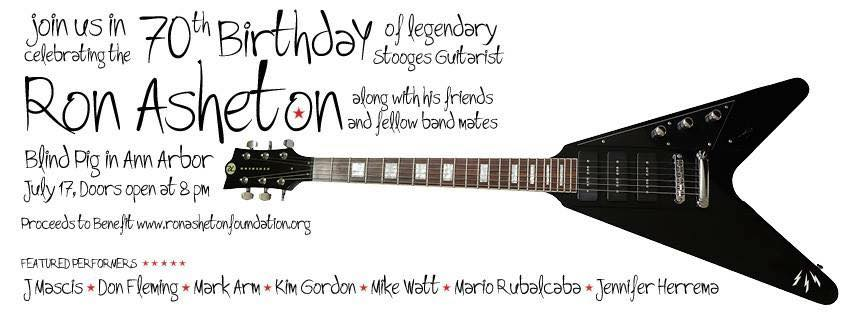 Ron Asheton 70th birthday celebration